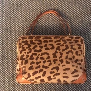 New Kate spade animal print calf hair zip bag